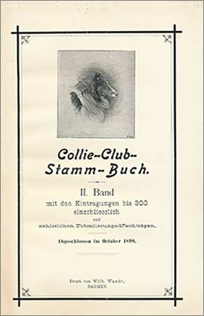 Collie Club Stamm Buch Title page